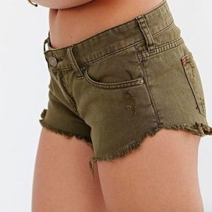 BDG Urban Outfitters low rise dolphin shorts
